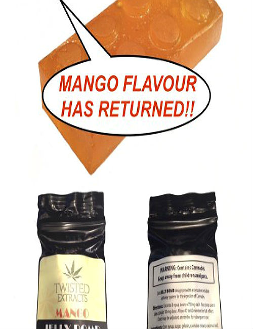 Cannabis Candy Twisted Extracts Mango Jelly Bomb
