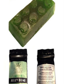 Cannabis Candy Apple Jelly Bomb Sativa (80mg)