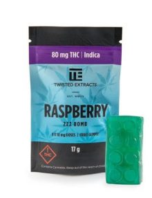 Cannabis Candy Raspberry Zzz Jelly Bomb Indica (80mg)