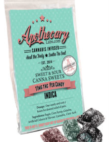 Apothecary Cannabis Candy Sweet & Sour Canna Sweets (10mg THC ea.)