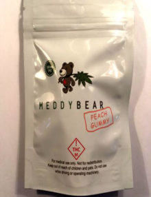Cannabis Candy Meddy Bear Peach Gummy – (100 mg)