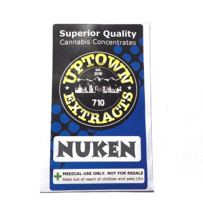 Cannabis Nuken Shatter Uptown Extracts