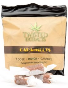 Cannabis Caramels Indica 70mg THC Pack