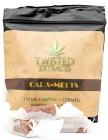Cannabis Caramels Sativa 70mg THC Pack